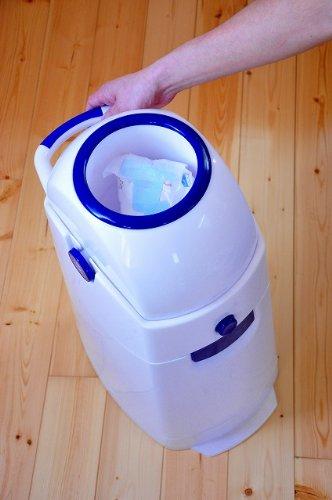 Geruchsdichter Windeleimer Diaper Champ regular blau – für normale Müllbeutel - 10