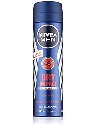 Nivea Men Deo Dry Impact Plus Spray, Antitranspirant, Doppelpack, 1er Pack (2 x 150 ml)