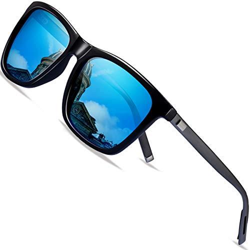 FEIDU polarisiertes Fahren der Sonnenbrillemänner der Frauen 100% UV400 Schutz für Golf, Fahren, Sport im Freien, Fischen(Blau, 50)