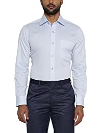 Raymond Men's Solid Regular Fit Cotton Formal Shirt
