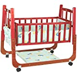Mee Mee Baby Cradle With Swing And Mosquito Net (Compact, Brown)