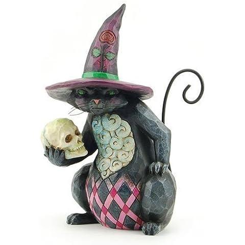 Enesco 4027796 Jim Shore Heartwood Creek Pint Sized Halloween Cat Figurine, 5-1/4-Inch by Enesco (Halloween Jim Shore)