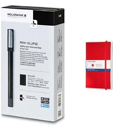 Moleskine Ellipse Pen+ e Paper Tablet Taccuino per Smartpen Pen+, Rosso