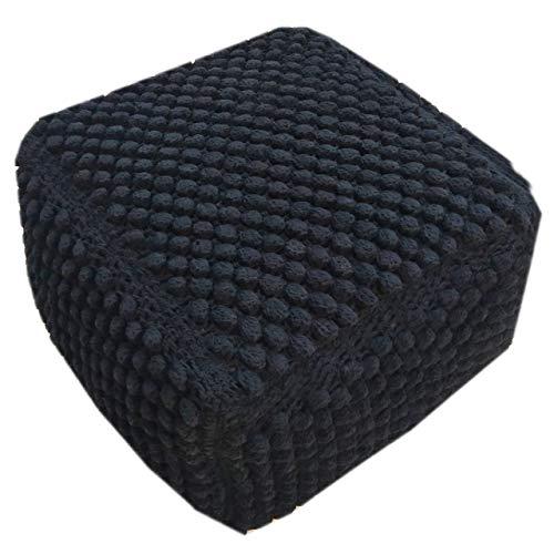 ANTARRIS Bodenkissen Sitzkissen Baumwoll-Quader Boden-Kissen Sitz-Sack rechteckig 55 x 35 x 55 cm Wintergarten, Wohnzimmer, Kinderzimmer, Spielkissen, Kaminzimmer Lounge-Sofa (schwarz, Schiefer)