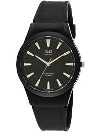 920651b1050d Q Q Men s VQ50J005Y Analogue Quartz with Black Resin Band - Black Dial