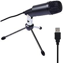 Tonor Microfono a Condensatore Professionale USB per Computer Plug and Play Colore Nero