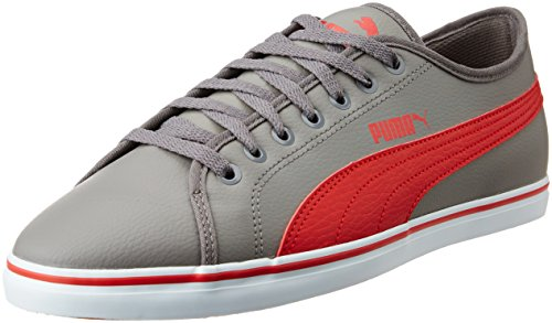 Puma Men's Elsu V2 Sl Dp Steel Grey and High Risk Red Sneakers - 10 UK/India (44.5 EU)