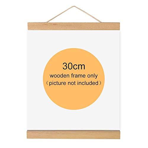 Magnético madera marco fotos marco madera natural
