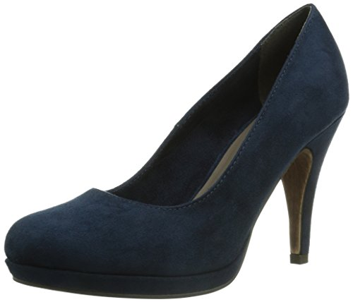 Tamaris 22407 Damen Plateau Pumps Blau (NAVY 805)