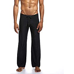 VPASS Pantalones Hombre,Pantalones de Yoga Color Sólido Moda Pop Casuales Pants Trend Largo Pantalones Diseño de Personalidad Ropa de Dormir