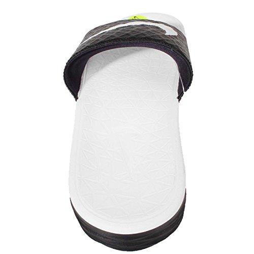 Nike Unisex-Erwachsene Wmns Benassi Solarsoft Zehentrenner Blanco (Blanco (black/white))