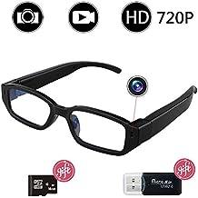 Caméra Espion de Lunettes, Bysameyee HD 720P caché vidéo enregistreur  Lunettes, Caméra de sécurité c8d6229c4188