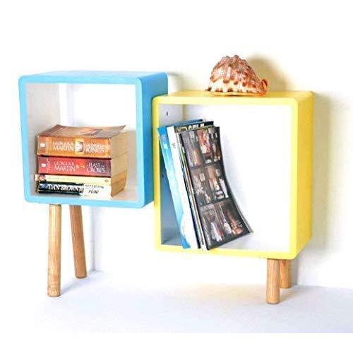 2er Cube Regal Holz Regal Regalwürfel Wandregal CD Regal Bücherregal Standregal Schrank(13A-121)