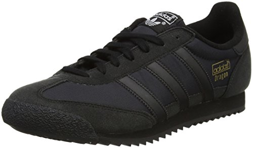 adidas Unisex Adults' Dragon Og Low-Top Sneakers, Black (Core Black/Core Black/Core Black),...