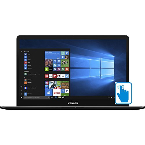 ASUS ZenBook Pro UX550VE-DB71T 15.6 inch FHD Touch Laptop PC (Intel i7-7700HQ Quad Core, 16GB RAM, 512GB SSD, GTX 1050Ti, 15.6