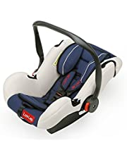 Luvlap Infant Baby Car Seat Cum Carry Cot and Rocker with Canopy Suitable for 0-15 Month Baby (0-13kgs) - Dark Blue