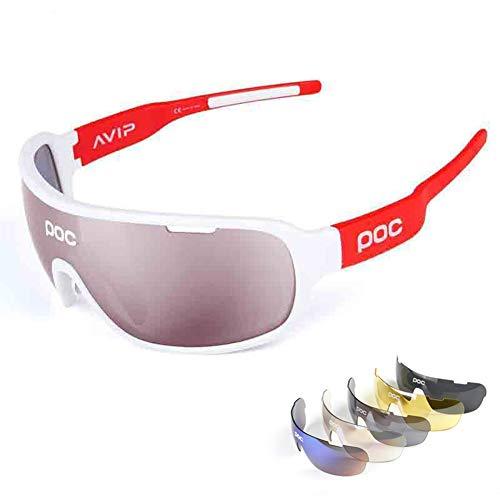 ZllSports Radfahren Poc Sonnenbrille mit Angeln polarisierten Brille für Unisex Kommt mit Outdoor-Sport-Windschutzbrille,9