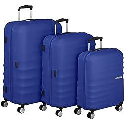American Tourister 74137/4436 WaveBreaker Juego de 3 Maletas, Color Azul