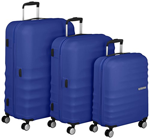 American Tourister Wavebreaker 3 Pezzi Set A, Blu (Nautical Blue)