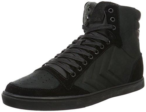 Hummel Slimmer Stadil Mono Oiled High, Sneakers Hautes Mixte Adulte Noir (Black/Black)