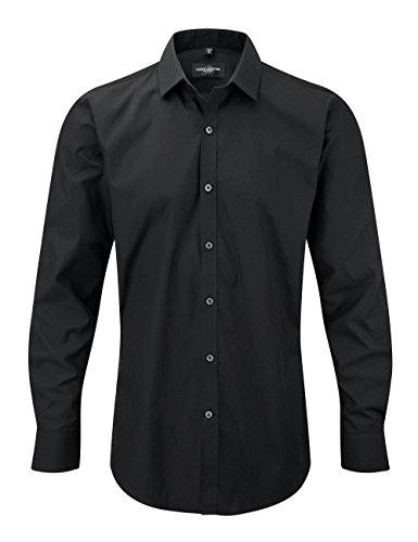 Russell Collection Ultimate à manches longues pour homme Coupe ajustée Motif maillot Noir - Noir