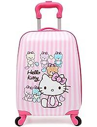 87d39b85e Gucili Maleta para Niños, Anime Cartoon Pink Hello Kitty Tronco De Rueda  Universal Impermeable,