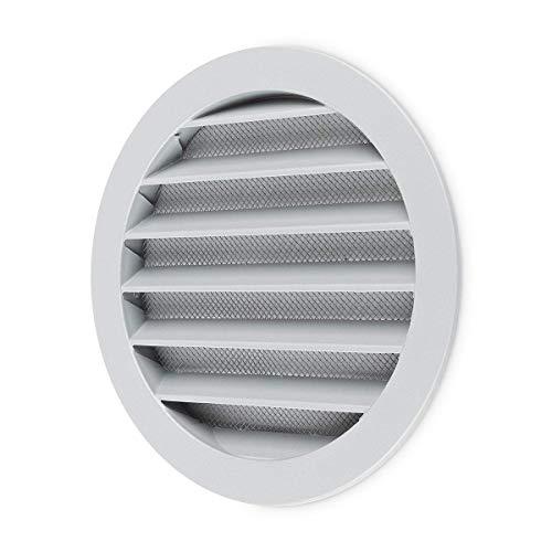 calimaero WSGG 150 mm Rund Wetterschutzgitter Silbergrau Flansch Insektenschutz Lüftungsgitter