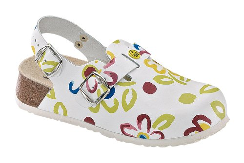Weeger ESD Clog, Zoccoli donna (Bianco)