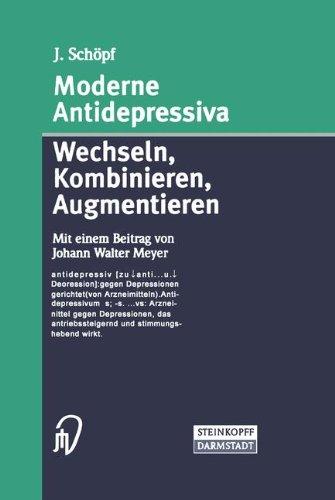 Cover »Moderne Antidepressiva«