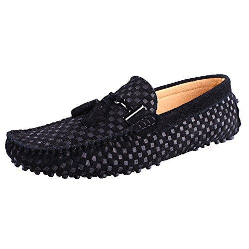 santimon-mocassins-en-daim-hommes-suedine-cuir-bateau-chaussures-tisse-gland-pendentif-noir-42