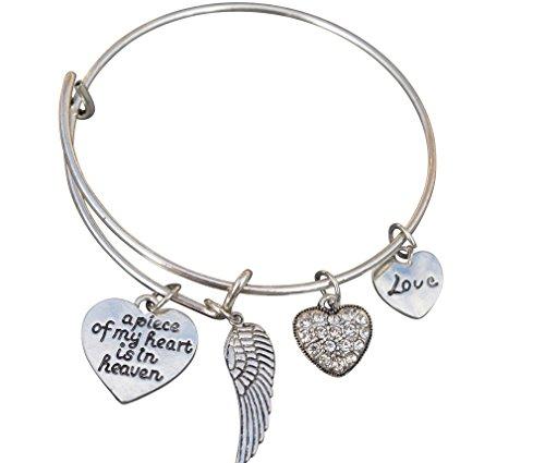 Memorial Schmuck, Memorial Armband, A Piece of my heart is in Heaven Armreif Armband