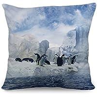 yinggouen pinguini sull' Iceberg decorate per un divano federa Cuscino 45x 45cm