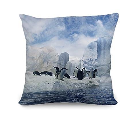yinggouen Pingouins sur l'iceberg Décorer pour un canapé taie d'oreiller housse de coussin 45x 45, 45cm x 45cm