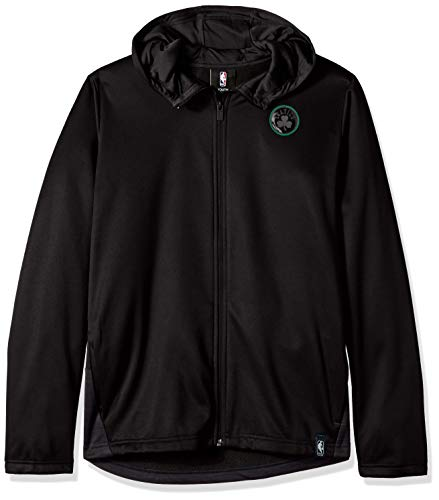 NBA by Outerstuff NBA Youth Boys Boston Celtics Ballistic Hooded Jacket, Black, Youth X-Large(18)