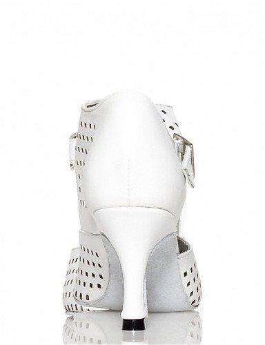 ShangYi Chaussures de danse(Noir / Blanc) -Personnalisables-Talon Personnalisé-Satin-Latine / Jazz / Salsa / Samba / Chaussures de Swing Black