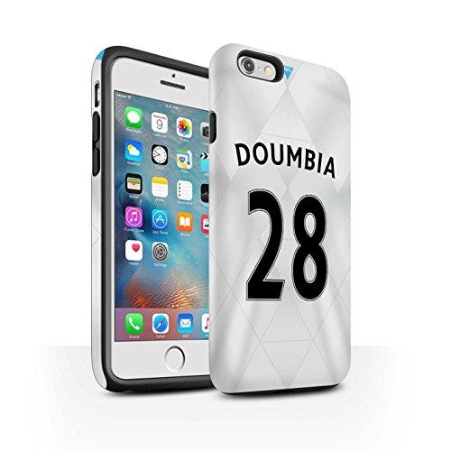 Offiziell Newcastle United FC Hülle / Matte Harten Stoßfest Case für Apple iPhone 6+/Plus 5.5 / Pack 29pcs Muster / NUFC Trikot Away 15/16 Kollektion Doumbia