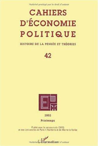 Cahiers d'économie politique N° 42...