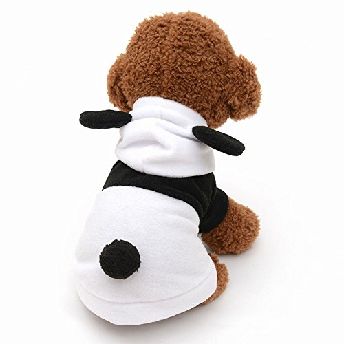 Pet Hoodie Puppy Cute Panda Kostüm Kleine Hund Katze Kleidung Winter Warm, Doggy Jumpsuit Mantel Bekleidung Warm Haustier (Halloween Bear Panda Kostüm)