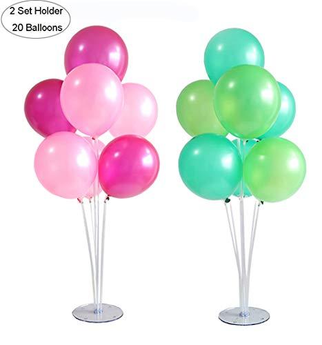 OOTSR 2 Satz Ballon Stick Halter mit 20 Stück Latexballon (10