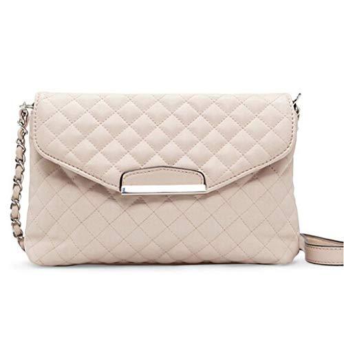 DOGZI Handtasche Damen, Klein Transparente Tasche Rucksack Damen Ledertasche Kleine Schultertasche Ledertasche Clutch Handtasche Tote Handtasche Hobo Messenger (Beige) -