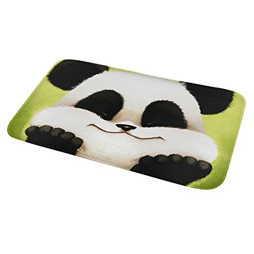 Alfombra Baño Antideslizante Cocina Alfombra Panda Absorbente Secado