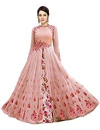 139e4f5a1d MONIKA SILK MILL Women s Georgette Dress Material (MSMZubeda  z-501 pink Pink Free Size)