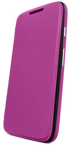 Motorola Flip Shell Hülle Case Cover für Moto G Smartphone - Violett