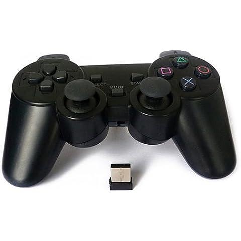 Controlador Joystick Wireless Inalámbrico para PC con motor doble de vibración 2689c
