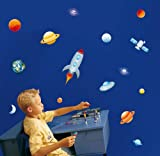 Fun4Walls Wall Stickers, Into Space Stickarounds