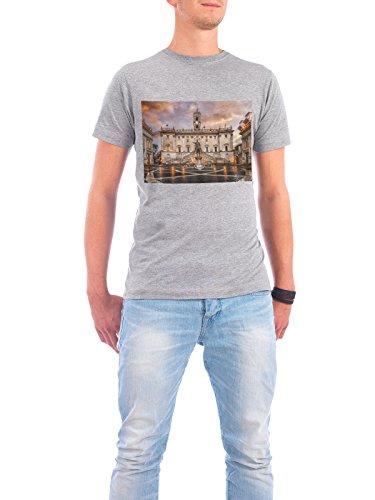 Design T-Shirt Men Continental Cotton Capitoline Hill in Roma grey size L - fair & eco-friendly shirt