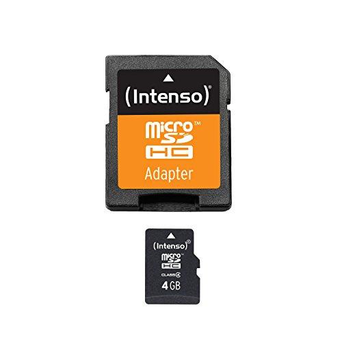 Intenso Micro SDHC 4GB Class 4 Speicherkarte inkl. SD-Adapter (4-gb-sd Flash)