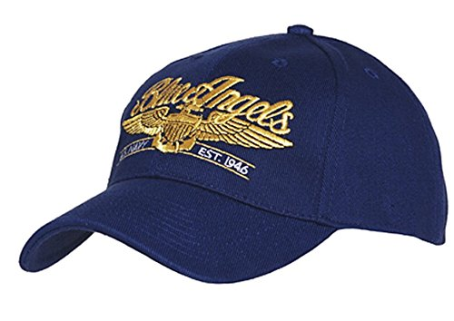 US Army Blue Angels USAAF Baseball Cap Airforce Pilot Wings Insignia