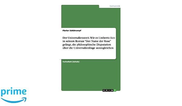 Der Universalienstreit Wie Es Umberto Eco In Seinem Roman Der Name