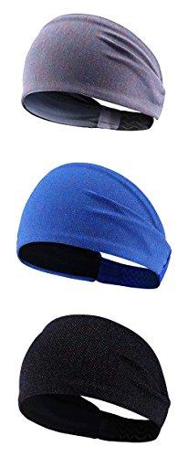 3pack ligero mujeres moda hairband diadema / kereith lurex sweatband s